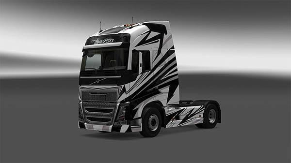 White Volvo 2012 Skin
