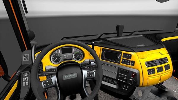 DAF E6 Yellow Wood Interior
