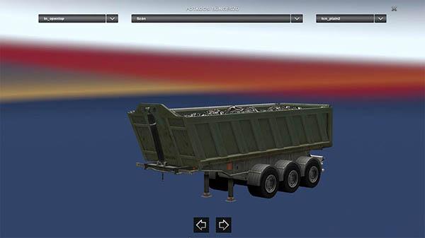Opentop trailer
