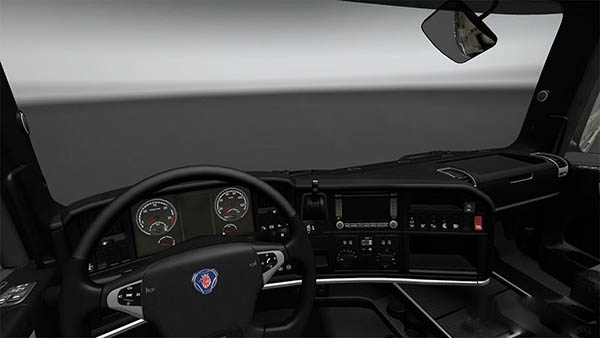 Scania Black Interior