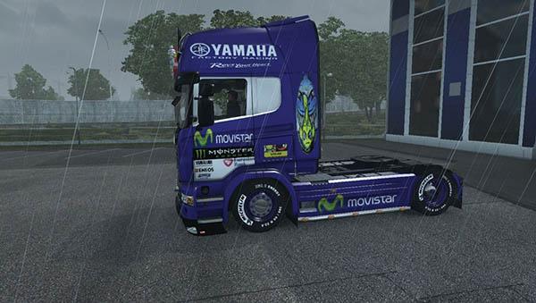 Scania R Movistar Yamaha Skin