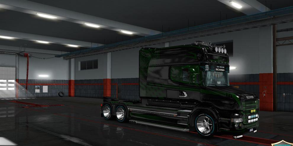 Skin BTZ v 2 for Scania T Longline | ETS2planet net