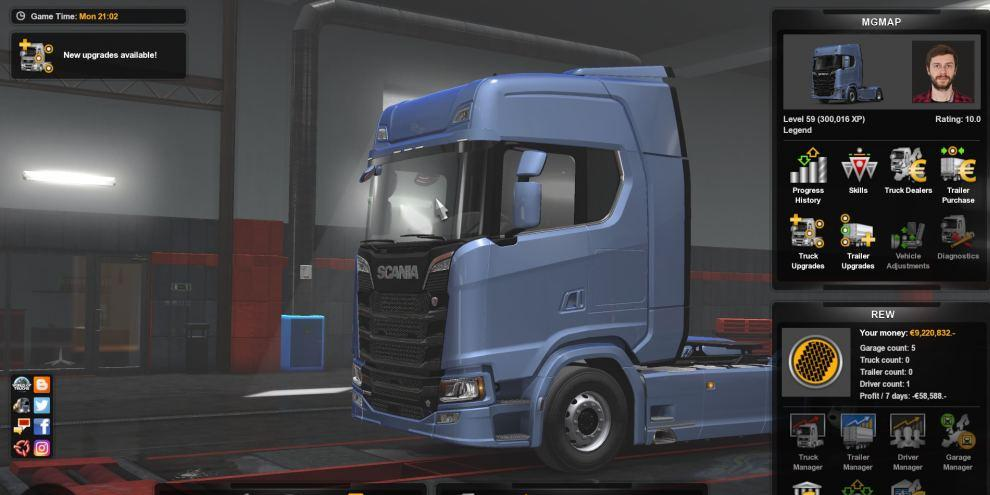 Save Game (Profile) for Minas Gerais Map (MGMap1 1) ETS2