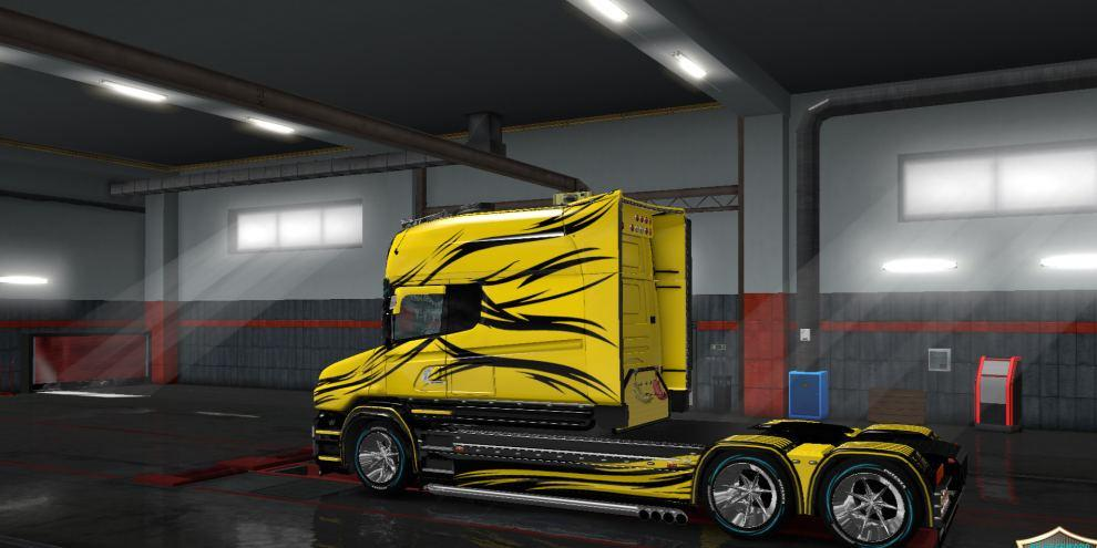 Skin YB v 2 for Scania T Longline | ETS2planet net