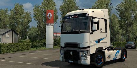 Decals für Truckdekor für Renault T Alpine Edition 6,9 x 5,8 cm